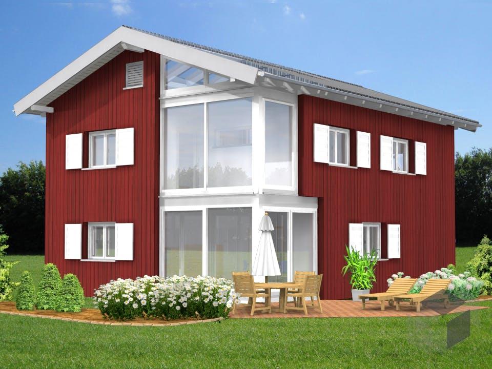 Planungsbeispiel 152H20 von Bio-Solar-Haus Außenansicht