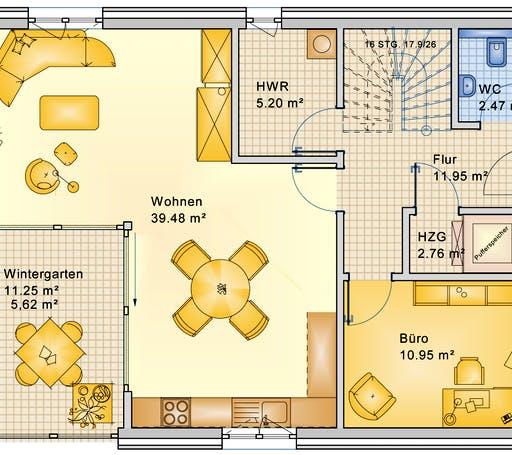 Bio-Solar-Haus - Planungsbeispiel 152H20 Floorplan 1