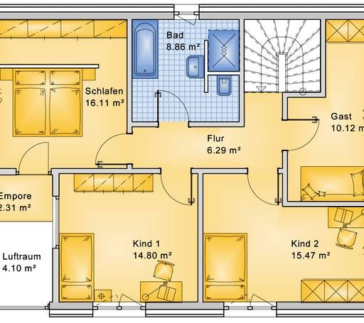 Bio-Solar-Haus - Planungsbeispiel 152H20 Floorplan 2