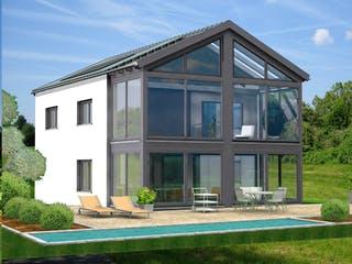 Planungsbeispiel 154H20 von Bio-Solar-Haus Außenansicht 1
