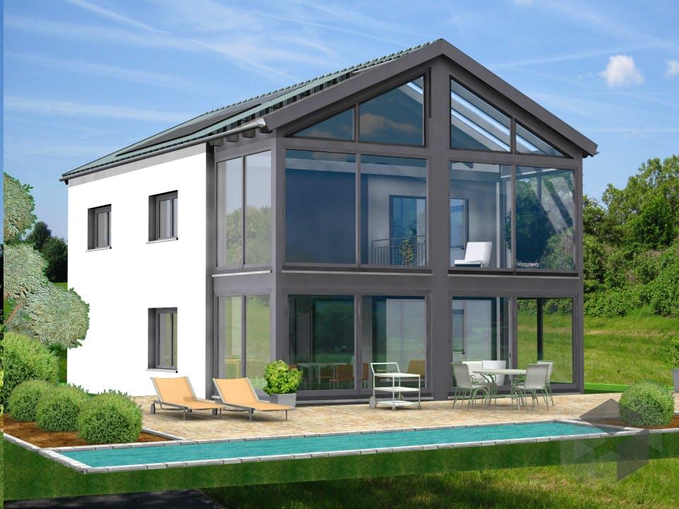 Planungsbeispiel 154H20 von Bio-Solar-Haus Außenansicht