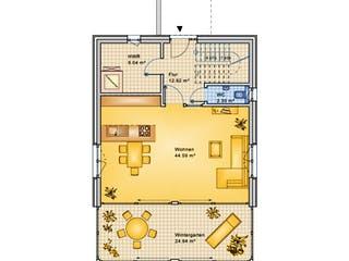 Planungsbeispiel 154H20 von Bio-Solar-Haus Grundriss 1