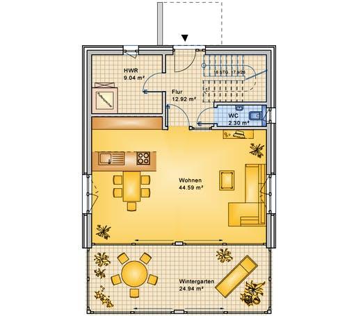 Bio-Solar-Haus - Planungsbeispiel 154H20 Floorplan 1