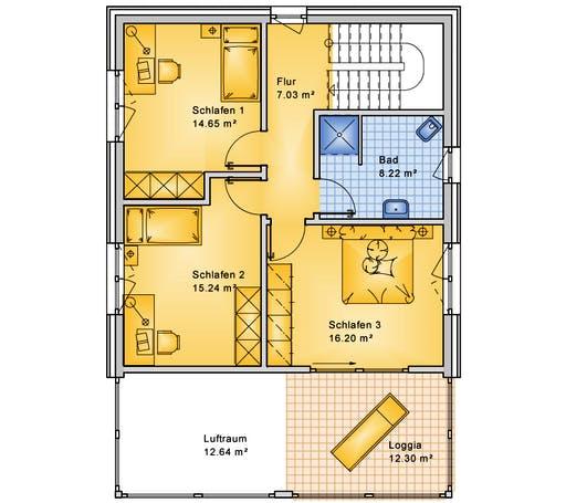 Bio-Solar-Haus - Planungsbeispiel 154H20 Floorplan 2