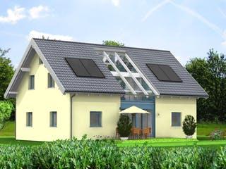 Planungsbeispiel 158H15 von Bio-Solar-Haus Außenansicht 1