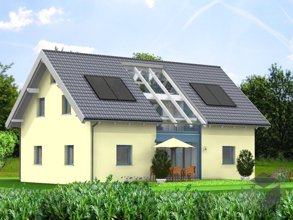 Planungsbeispiel 158H15 von Bio-Solar-Haus Außenansicht
