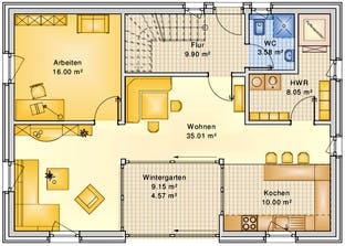 Planungsbeispiel 158H15 Grundriss