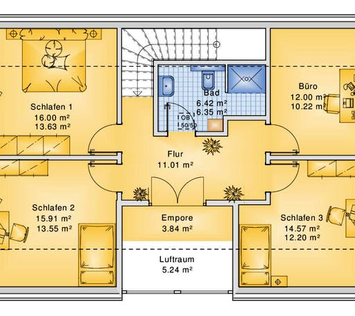 Bio-Solar-Haus - Planungsbeispiel 158H15 Floorplan 2
