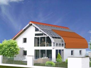 Planungsbeispiel 159SB20 von Bio-Solar-Haus Außenansicht 1