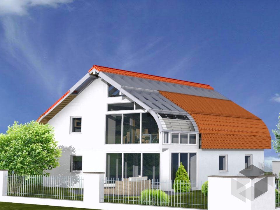 Planungsbeispiel 159SB20 von Bio-Solar-Haus Außenansicht
