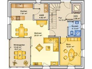 Planungsbeispiel 159SB20 von Bio-Solar-Haus Grundriss 1