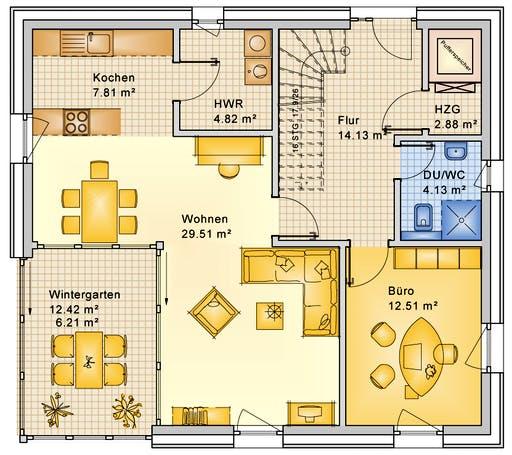 Bio-Solar-Haus - Planungsbeispiel 159SB20 Floorplan 1