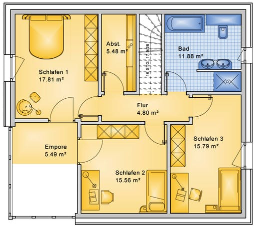 Bio-Solar-Haus - Planungsbeispiel 159SB20 Floorplan 2