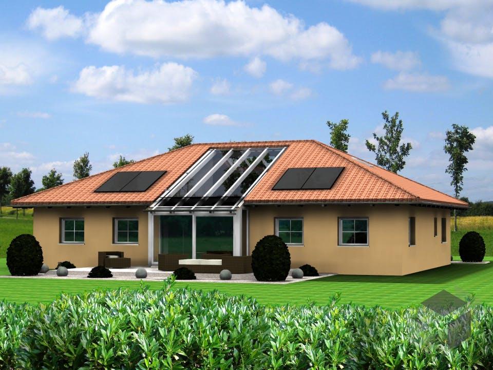 Planungsbeispiel 160H10 von Bio-Solar-Haus Außenansicht