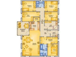 Planungsbeispiel 160H10 von Bio-Solar-Haus Grundriss 1