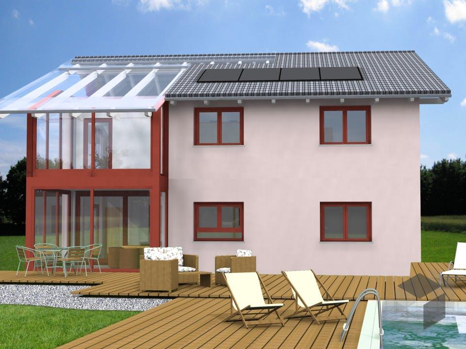 Planungsbeispiel 165H20 von Bio-Solar-Haus Außenansicht