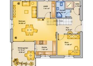 Planungsbeispiel 165H20 Grundriss