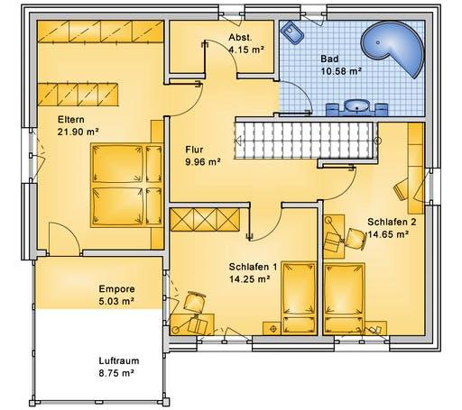 Bio-Solar-Haus - Planungsbeispiel 165H20 Floorplan 2
