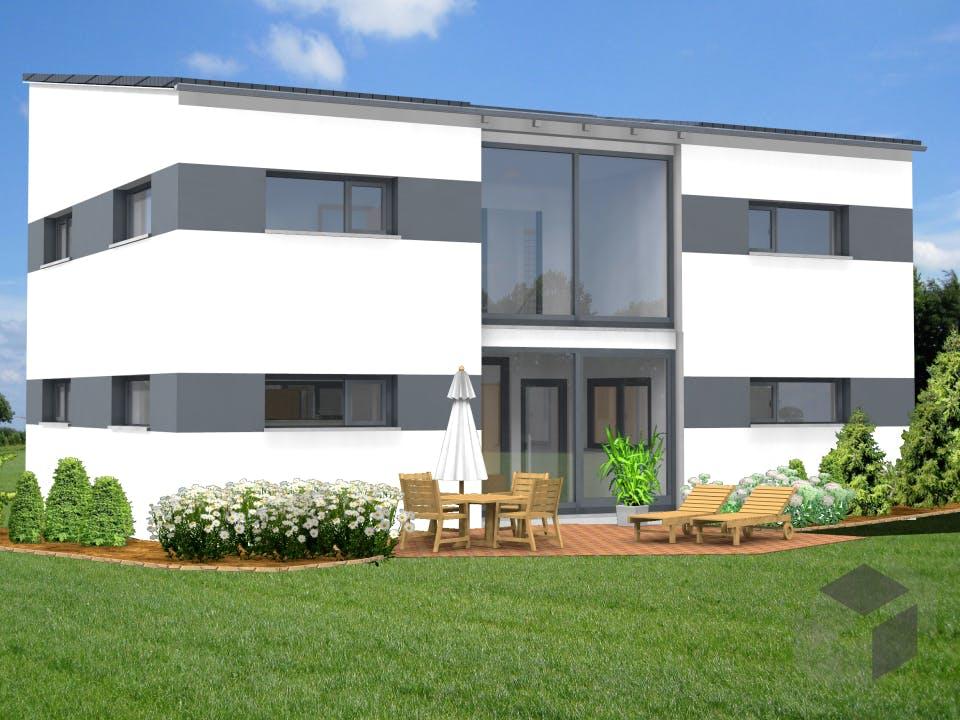 Planungsbeispiel 168H20 von Bio-Solar-Haus Außenansicht