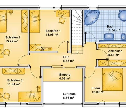 Bio-Solar-Haus - Planungsbeispiel 168H20 Floorplan 2