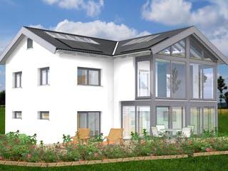 Planungsbeispiel 170H20 von Bio-Solar-Haus Außenansicht 1