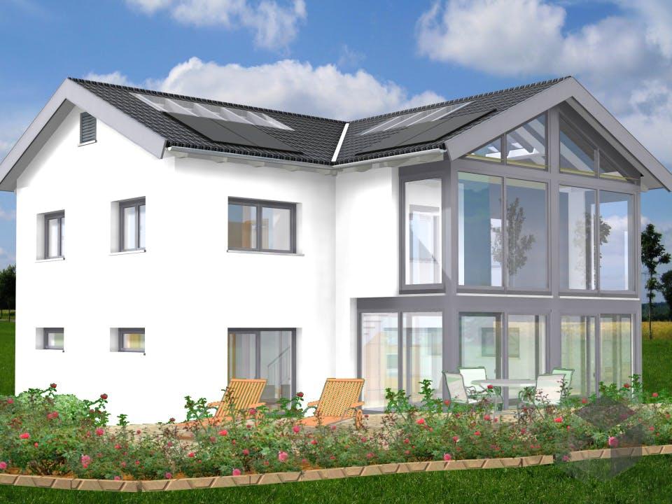 Planungsbeispiel 170H20 von Bio-Solar-Haus Außenansicht