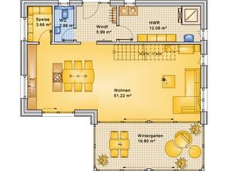 Planungsbeispiel 170H20 von Bio-Solar-Haus Grundriss 1