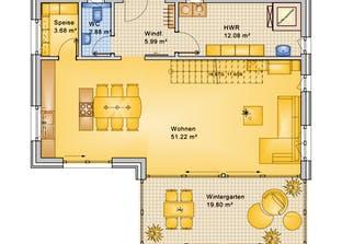 Planungsbeispiel 170H20 Grundriss