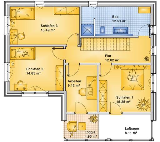Bio-Solar-Haus - Planungsbeispiel 170H20 Floorplan 2