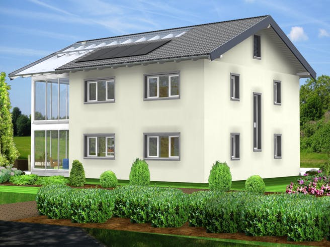 Planungsbeispiel 183H20 von Bio-Solar-Haus Außenansicht 1