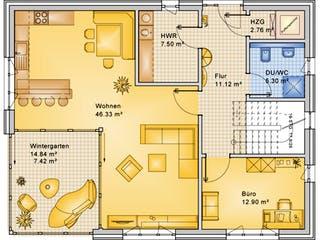 Planungsbeispiel 183H20 von Bio-Solar-Haus Grundriss 1