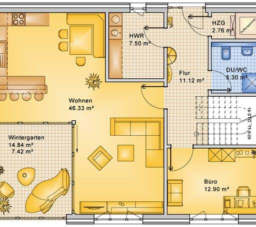 Bio-Solar-Haus - Planungsbeispiel 183H20 Floorplan