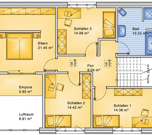 Bio-Solar-Haus - Planungsbeispiel 183H20 Floorplan 2