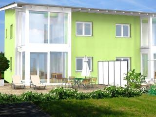 Planungsbeispiel 223DH20 von Bio-Solar-Haus Außenansicht 1