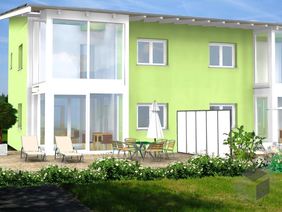 Planungsbeispiel 223DH20 von Bio-Solar-Haus Außenansicht