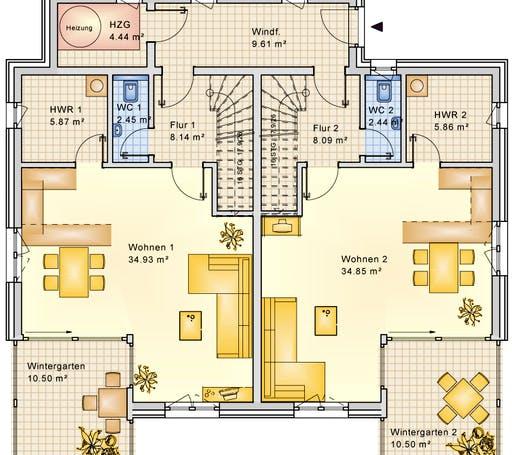 Bio-Solar-Haus - Planungsbeispiel 223DH20 Floorplan 1