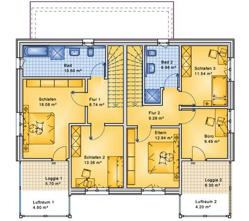 Bio-Solar-Haus - Planungsbeispiel 223DH20 Floorplan 2