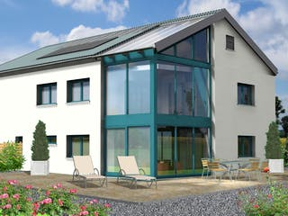 Planungsbeispiel 252H20 von Bio-Solar-Haus Außenansicht 1