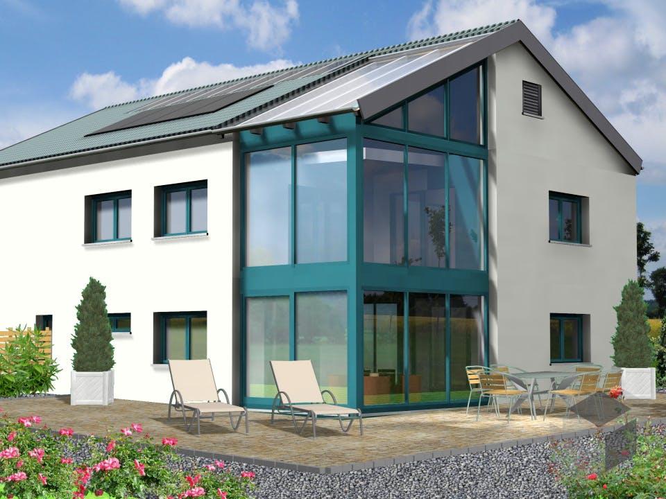 Planungsbeispiel 252H20 von Bio-Solar-Haus Außenansicht