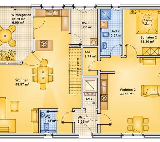Bio-Solar-Haus - Planungsbeispiel 252H20 Floorplan 1