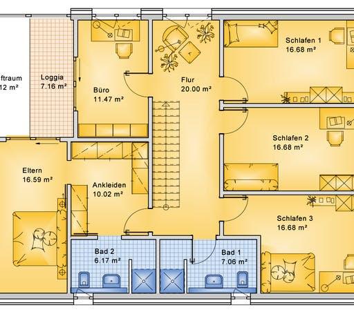 Bio-Solar-Haus - Planungsbeispiel 252H20 Floorplan 2
