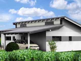 Planungsbeispiel 95H10 von Bio-Solar-Haus Außenansicht 1