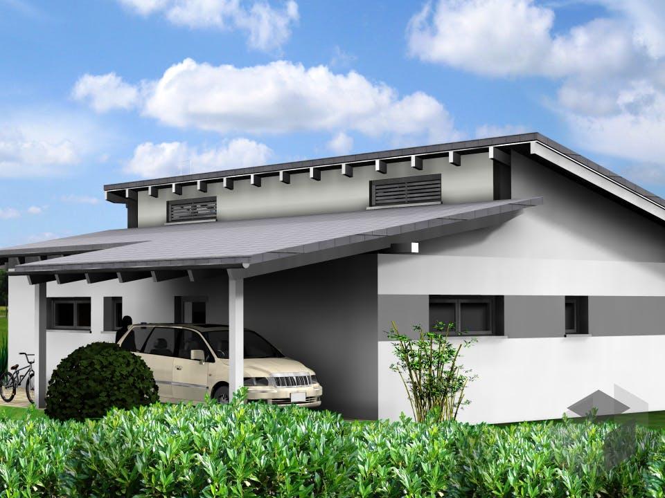 Planungsbeispiel 95H10 von Bio-Solar-Haus Außenansicht