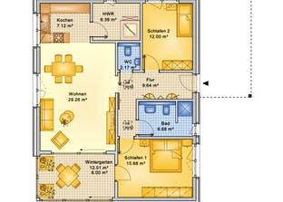 Planungsbeispiel 95H10 Grundriss