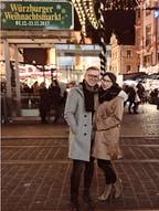Christina und Sascha auf dem Weihnachtsmarkt