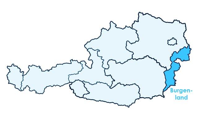 Lage des Burgenlandes