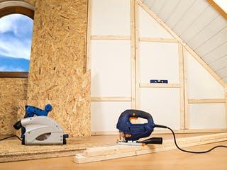 Dachboden beim Ausbau