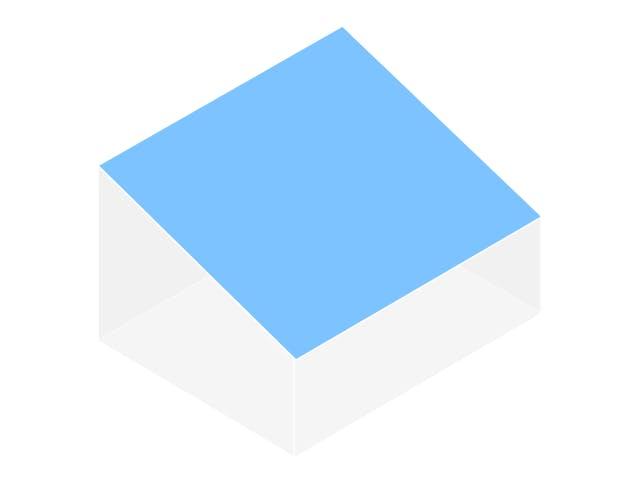 Graphische Darstellung Pultdach