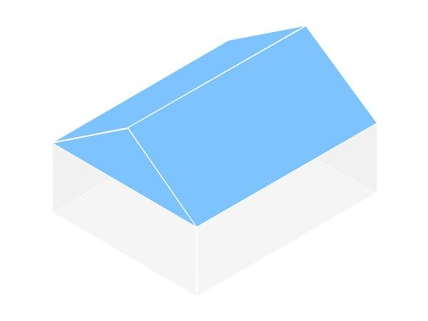 Satteldach Grafik