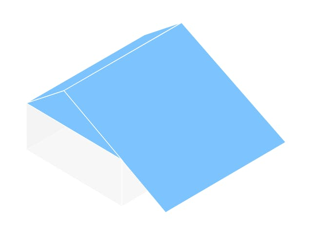Grafische Darstellung eines Schleppdachs